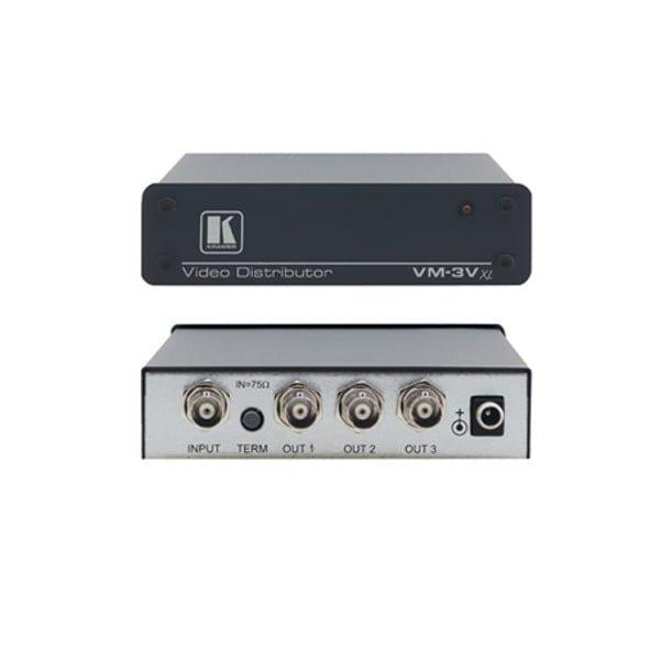 Wysokiej klasy wzmacniacz rozdzielczy 1:3 kompozyt wideo z izolacją i buforowaniem na konektorach BNC 430MHz