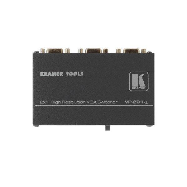 Przełącznik pasywny sygnałów grafiki komputerowej VGA na złaczach D-SUB 2x1, rozdzielczości ponad UXGA.