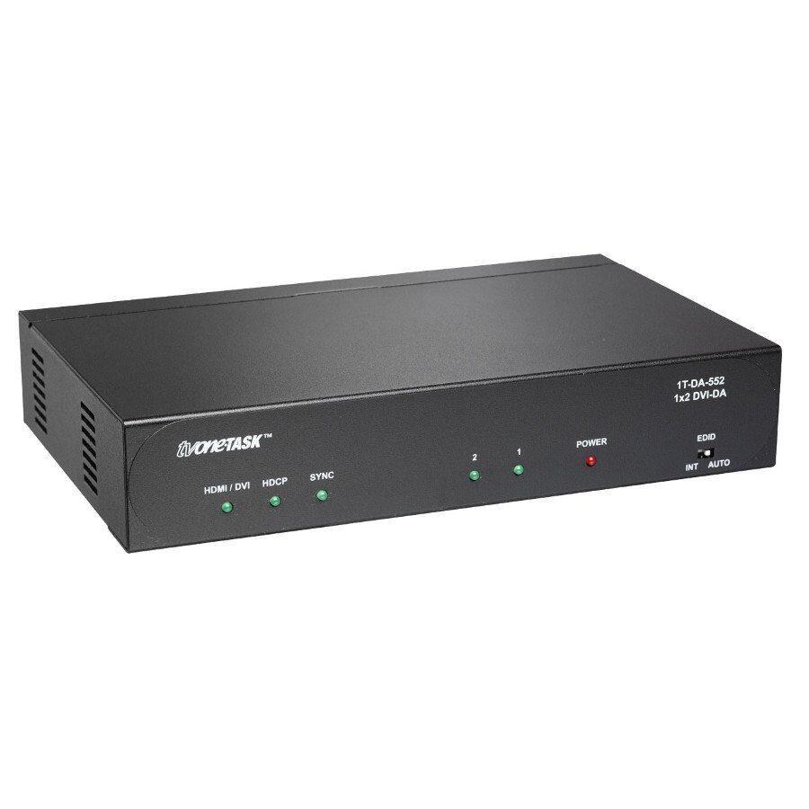 Rozdzielacz DVI 1:2, 2 wyjścia DVI-D. 1080p DVI-D Deep Color 12-bit HDMI 1.3, HDCP, HDMI v1.3 Dolby TrueHD, Dolby Digital + DTS-HD Master Audio