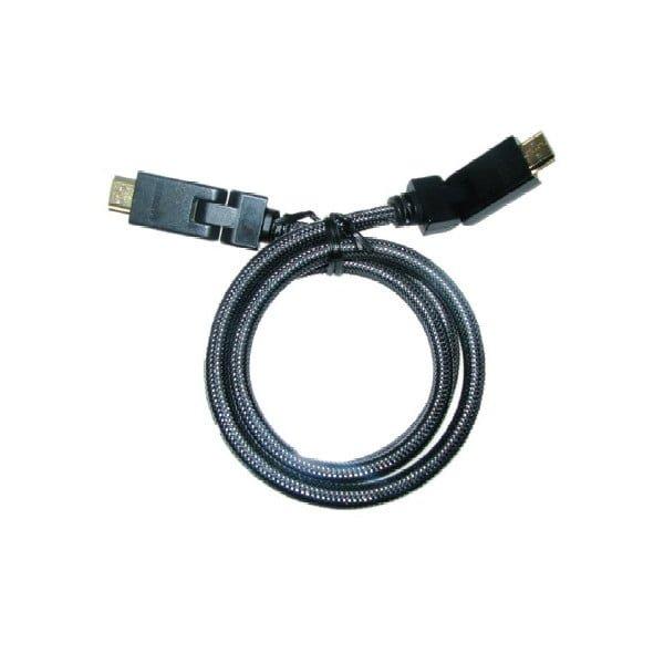 Najwyższej klasy kabel HDMI High Speed, z obrotowymi w zakresie 180º głowicami HDMI-HDMI, HDCP, CEC, długość 1,8 m.