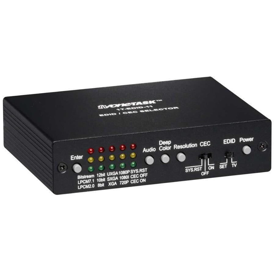 Przełącznik wideo HDMI EDIC/CEC wejście HDMI, wyjście HDMI, SD i HD: 480i/p, 576i/p, 720p, 1080i/p, RGB: VGA, SVGA, XGA, SXGA, UXGA, audio: TrueHD, DTS-HD, LPCM 7.1& 2.0