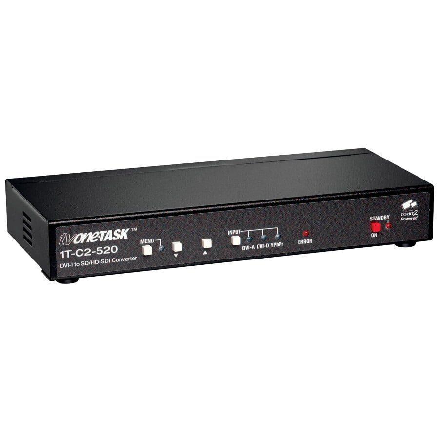Konwerter DVI-D 720p 1080i - HD-SDI, analogowy YPbPr / RGBHV na SD-SDI, DVI-I, komponent 3x BNC, wyjście SMPTE 270M/292M 1x BNC, RS-232