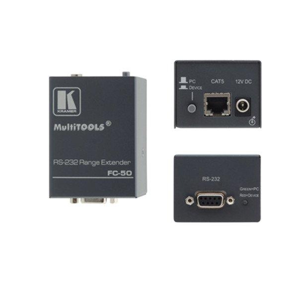 Przedłużacz extender portu szeregowego RS-232 do 1km kablu UTP nieekranowanym lub STP ekranowanym, np. CAT 5.