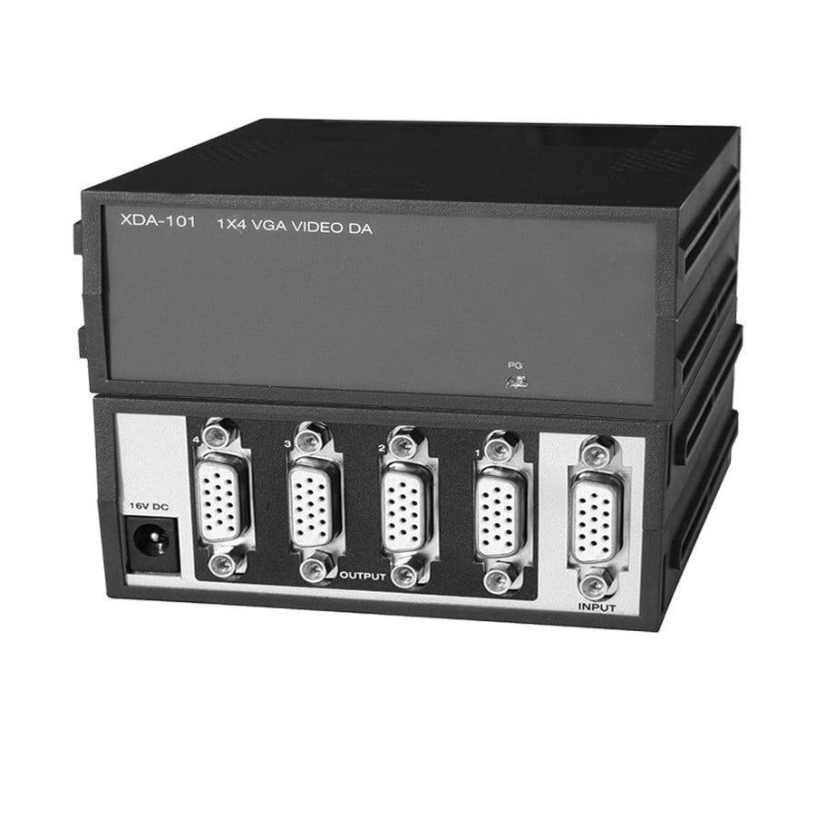 wzmacniacz rozdzielczy wideo monitorowy splitter rozdzielacz repeater 1x4 D-SUB HD15 firmy OGDEN 1920×1440
