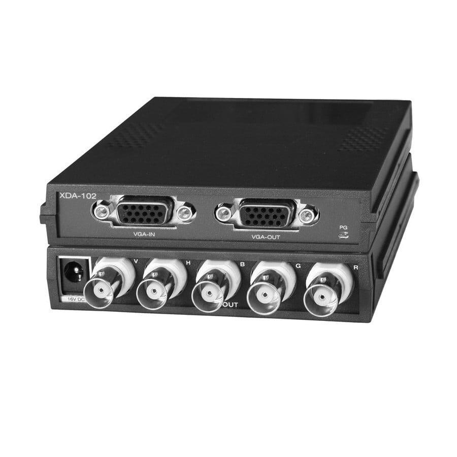 wzmacniacz rozdzielczy dystrybucyjny 1:2 OGDEN, wejście VGA, wyjście VGA 5x BNC do 1920×1440