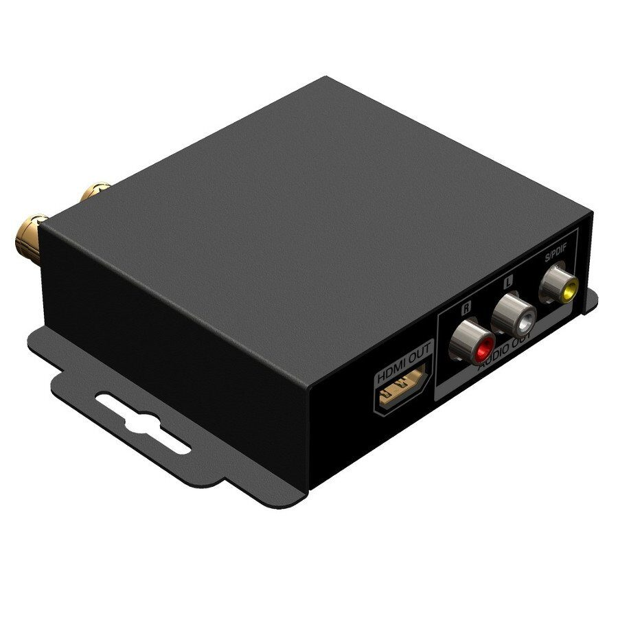 Konwerter 3G/HD/SD-SDI - HDMI FullHD 60Hz, deembeder audio. Wejścia SDI, Wyjścia: SDI, HDMI, S/PDIF, analog stereo. Obsługa 7.1-kanałowego audio.