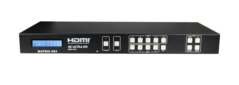 4x4 HDMI Matrix 18Gbps Ycbcr 4 4