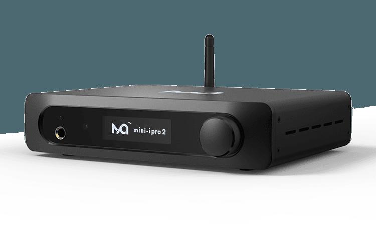 Matrix-Audio-Mini-i-pro-ipro-minii-2s-2-s-32-bit-32bit-384khz-dxd-dac-Audio-pre-amp-wzmacniacz-wbudowany-db-front-panel-wyświetlacz-pokrętło-wygląd-rzut