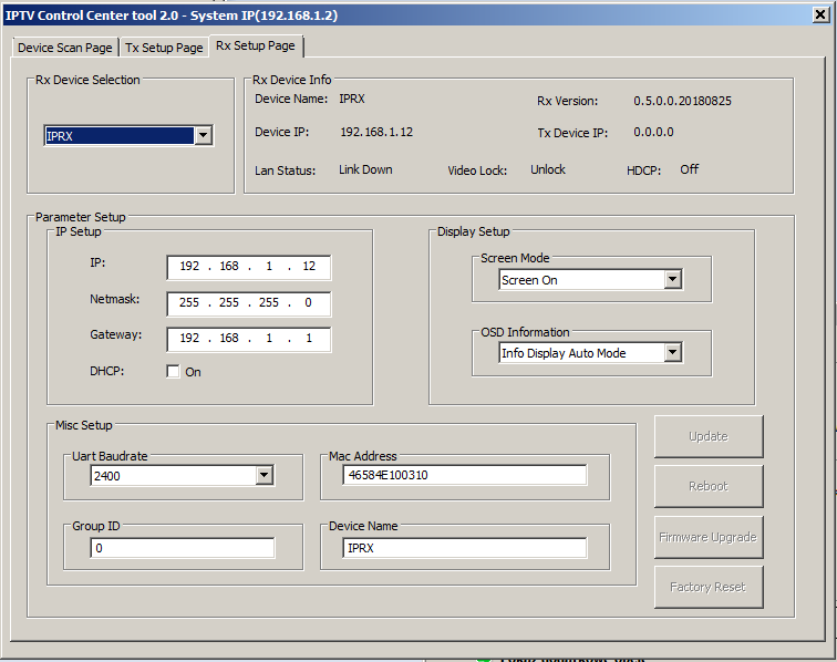 FXN SX-EX36 Extender HDMI streamer Full HD po IP multicast
