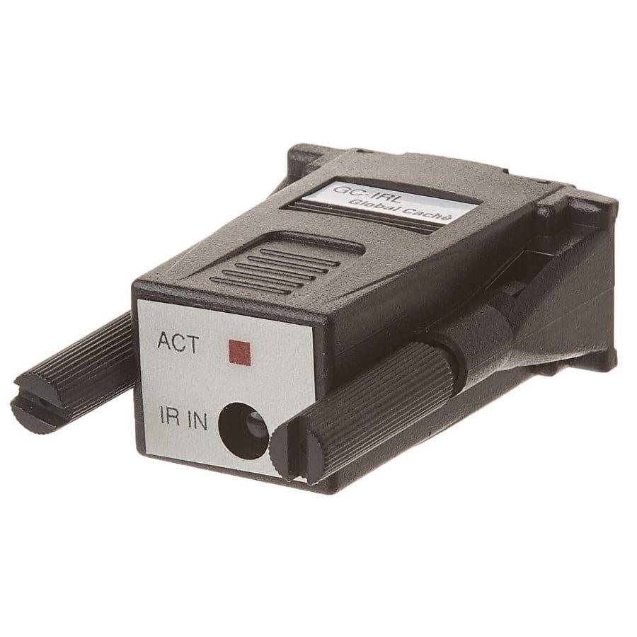 Global-Cache-GC-IRL-IR-Learner który uczy się i przechowuje komendy IR na PC przez łącze RS-232, zakres modulacji IR: 30 kHz do 500 kHz, współpracuje z bezpłatnym oprogramowaniem