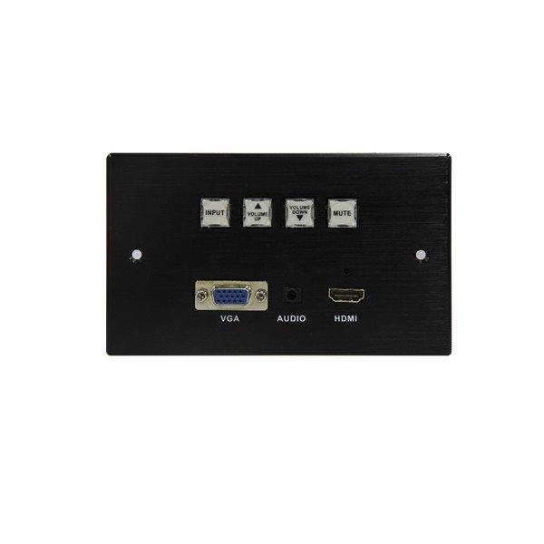 Ścienny automatyczny switch wieloformatowy VGA+audio, HDMI audio analog (deemebedder) HDCP, RS323, LAN, panel, POE. Max 4K*2K@30Hz.
