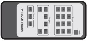 Multiviewer przełącznik 9x1 HDMI 4K bezszwowy