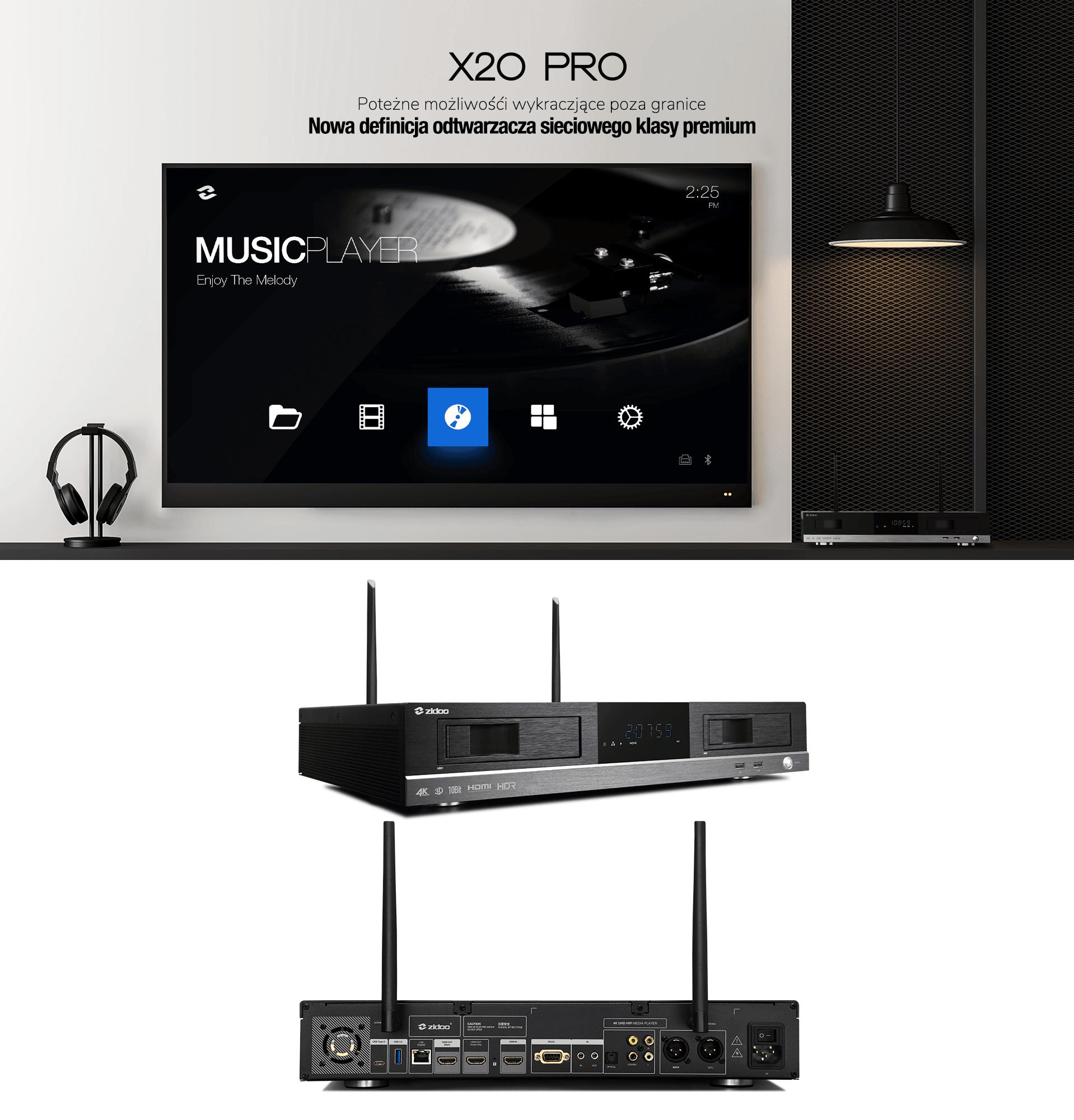 Zidoo-X2o-Pro-design