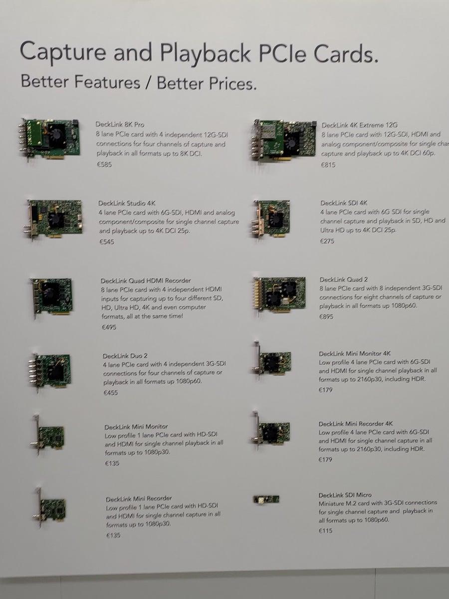 Karty PCIe do przechwytywania i odtwarzania wideo