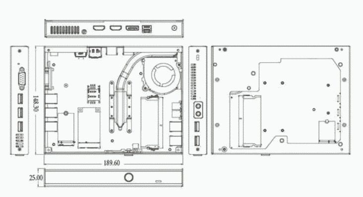 Giada D68 Mini-PC PCB layout