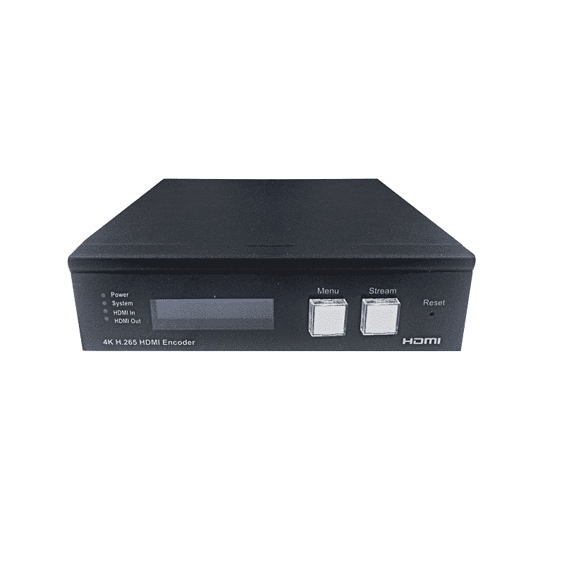 IP-TV streamer hardware encoder H264 H265 LAN WAN HE05 front panel view