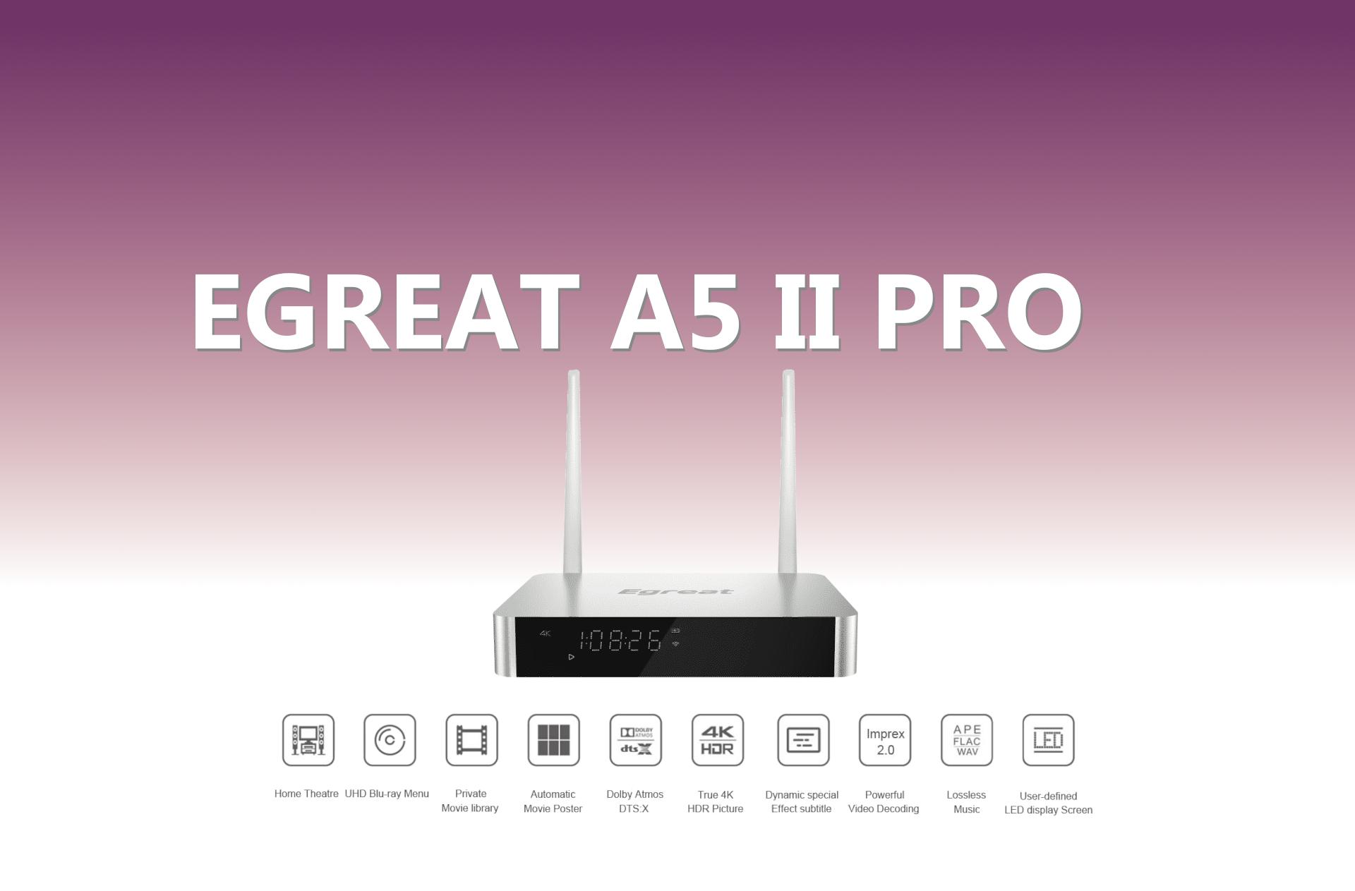 Egreat A5 II Pro – multimedialny odtwarzacz dla melomanów i miłośników dobrego kina