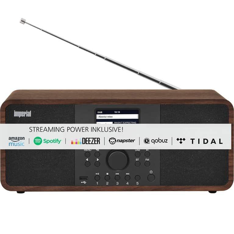 aradio internetowe hybrydowe DAB+ FM CD MP3 WMA AAC+ subwoofer 30W DABMAN LCD TFT Tidal, Quobuz, Napster, Deezer, Amazon Music