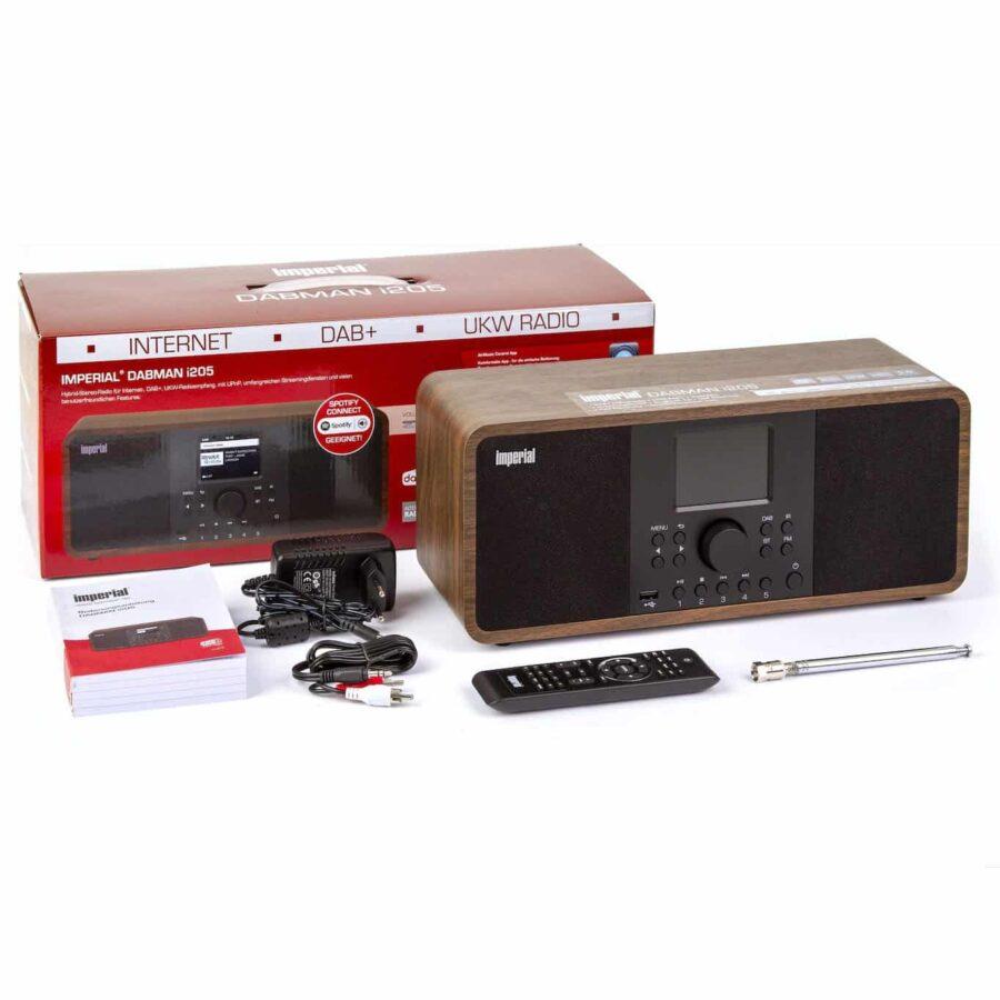 Hybrid radio internetowe Dabman Imperial i205 FM DAB+ Bluetooth UPnP internet streaming stereo remote MP3 WMA AAC+