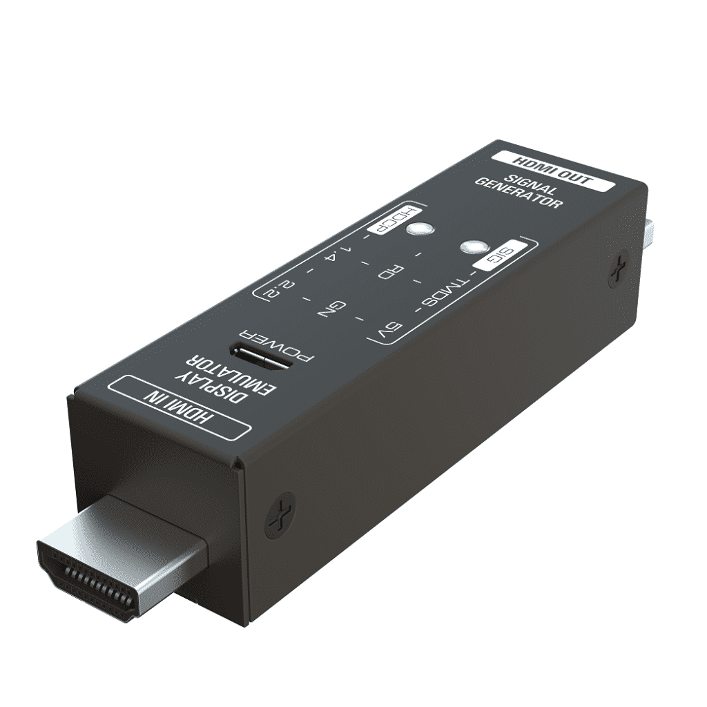 GEN-1 miniaturowy generator HDMI tester emulator HDCP 4K FHD angle view 03