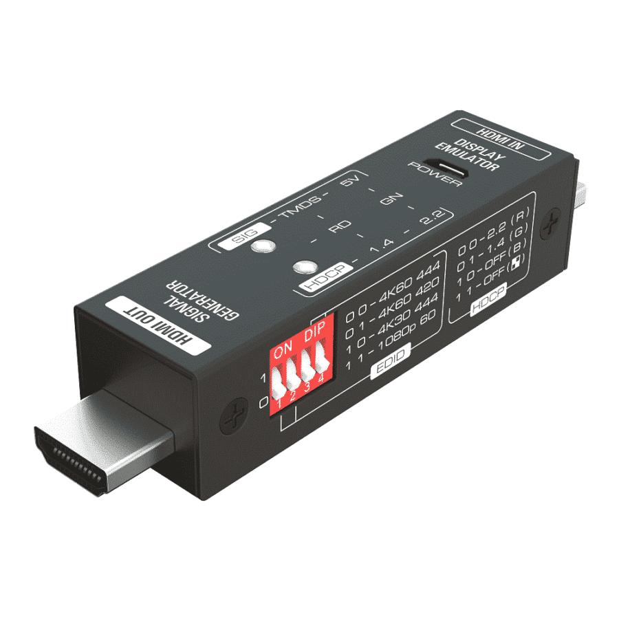 miniaturowy pocket HDMI tester generator emulator 4K FullHD