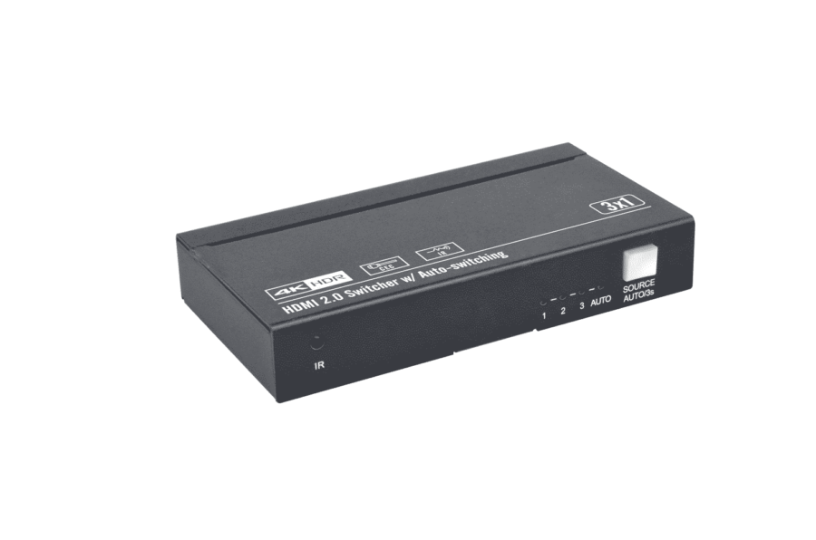 WUH3C-H2 przełącznik switcher 3x1 18Gbps auto pilot HDR dolby-vision audio multichannel