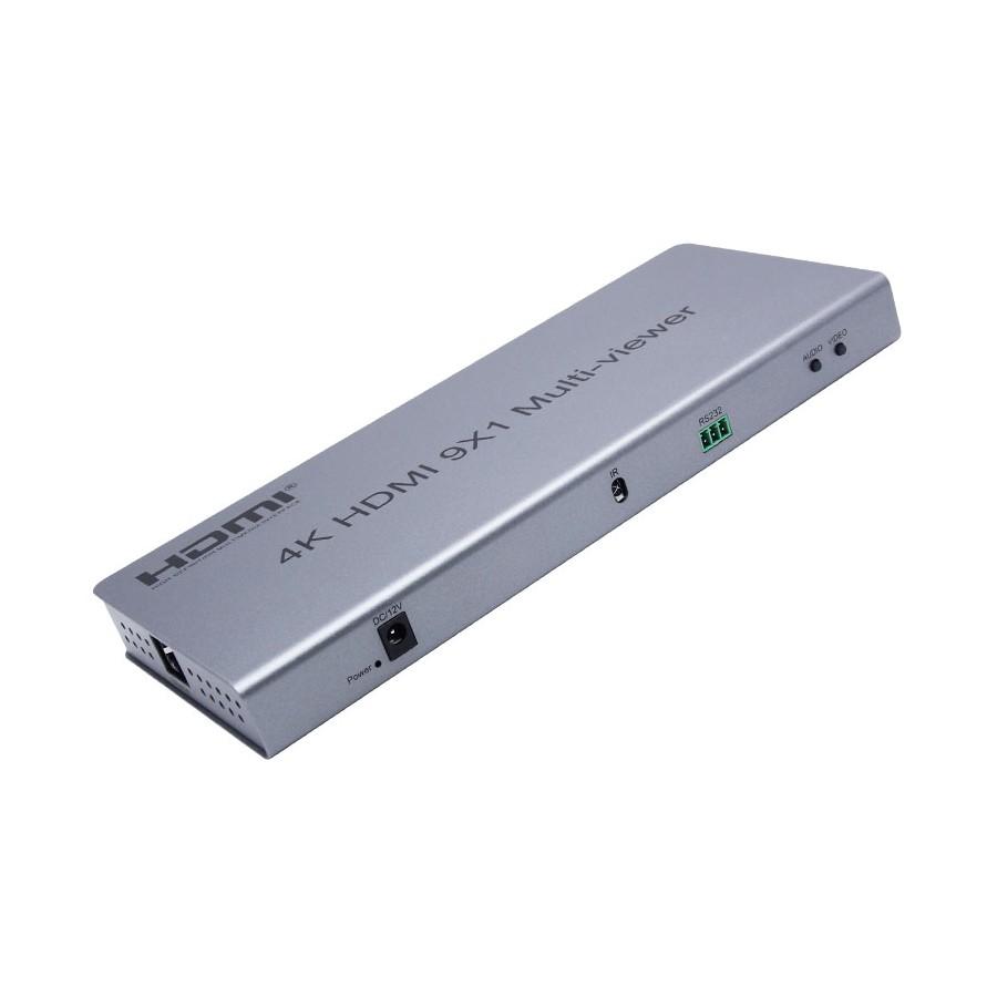 Multiviewer HDMI 4k 9x1, przełącznik bezszwowy. 11 trybów okien.