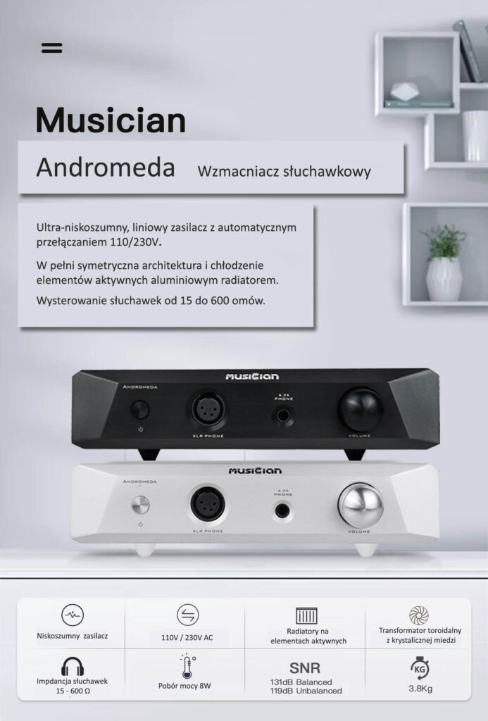 Musician Andromeda Headphone Amplifier 16 ohm 600 ohm