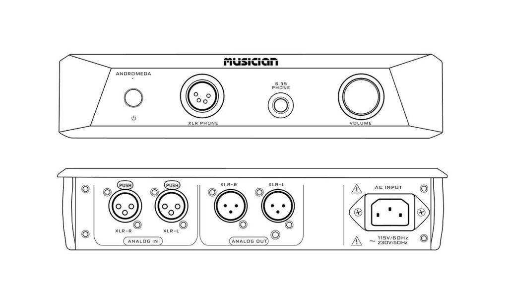 MUSICIAN Andromeda Headphones Amplifier