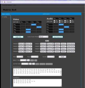 Seamless HDMI 4x4 matrix VideoWall 18Gbps 4K60